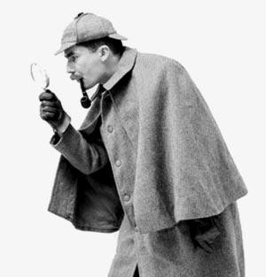 Sherlock-Holmes hinthunt