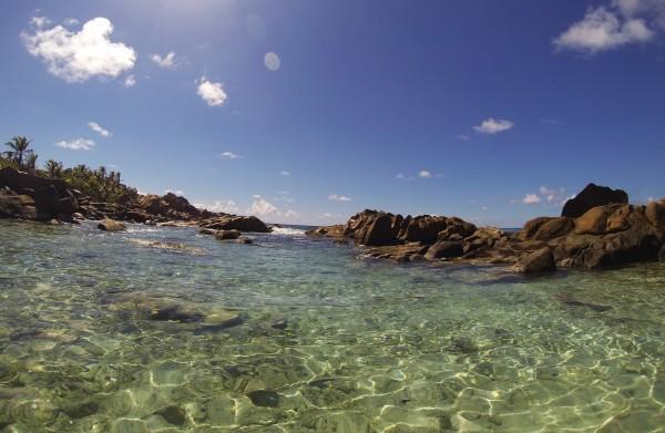 GoPro Seychelles Anse Coco Piscine naturelle La digue