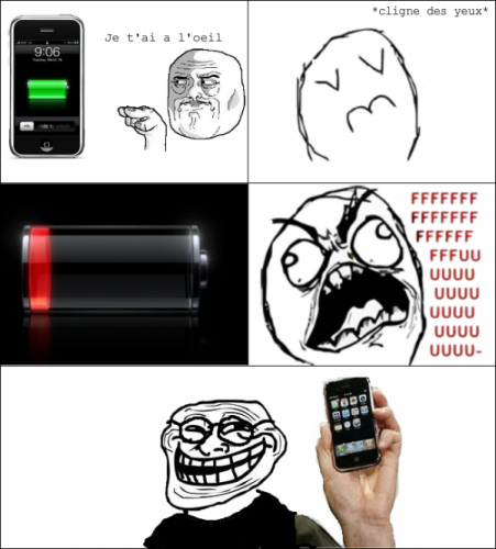 Batterie faible trollface