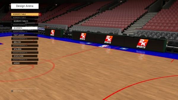 NBA 2K16 Design Arena - Scorers Table
