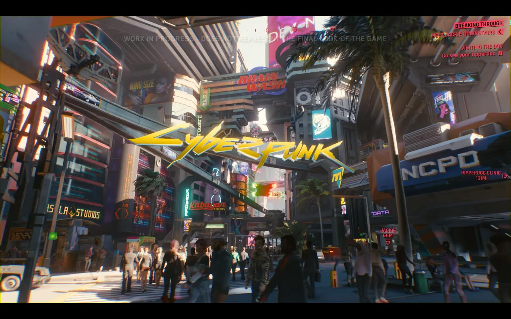 Gamescom 2018 Cyberpunk 2077 Jai Pu Assister à La Présentation